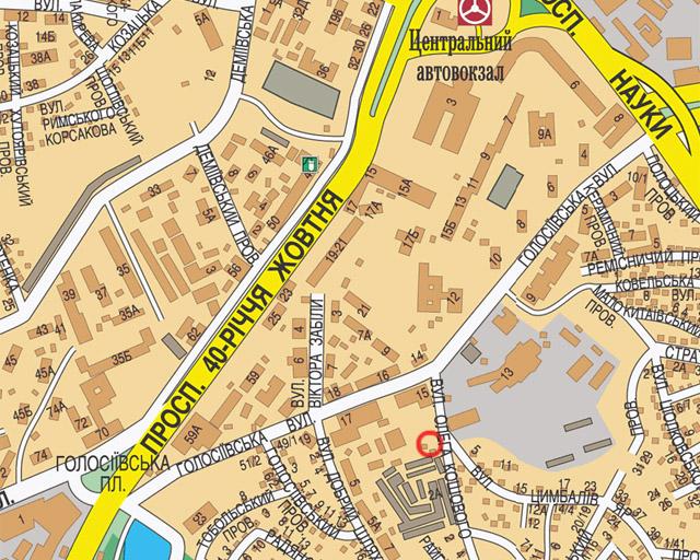 Карта - адрес Аутдор-Альянс