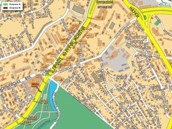 Карта - Троллы на 40-річчя Жовтня пр-т(конструкция №4015)