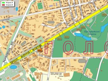 Карта - Троллы на 40-річчя Жовтня пр-т(конструкция №4025)