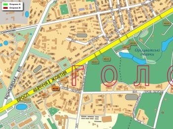 Карта - Троллы на 40-річчя Жовтня пр-т(конструкция №4026)