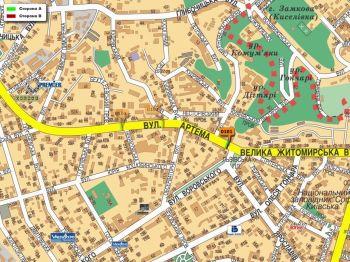 Карта - Троллы на Артема вул.(конструкция №101)