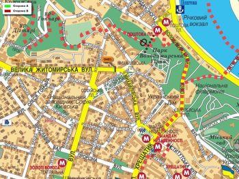 Карта - Троллы на В.Житомирська вул.(конструкция №401)