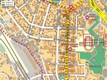 Карта - Троллы на В.Васильківська вул.(конструкция №302)