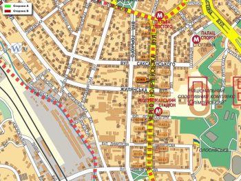 Карта - Троллы на В.Васильківська вул.(конструкция №305)