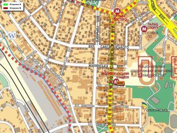 Карта - Троллы на В.Васильківська вул.(конструкция №309)