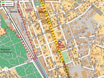 Карта - Троллы на В.Васильківська вул.(конструкция №320)