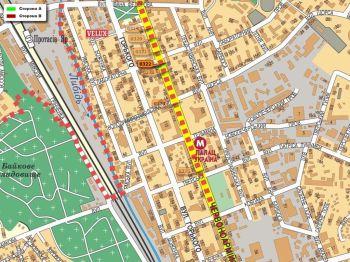 Карта - Троллы на В.Васильківська вул.(конструкция №322)