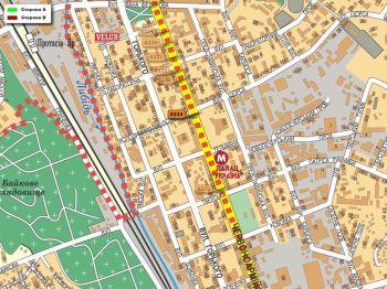 Карта - Троллы на В.Васильківська вул.(конструкция №324)