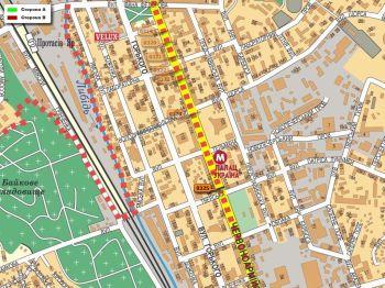 Карта - Троллы на В.Васильківська вул.(конструкция №325)