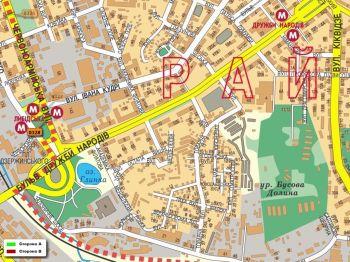 Карта - Троллы на В.Васильківська вул.(конструкция №328)