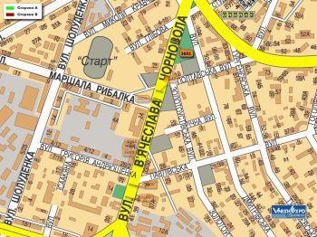 Карта - Троллы на Чорновола вул.(конструкция №3601)
