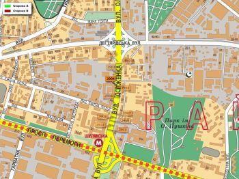 Карта - Троллы на О.Довженко вул.(конструкция №2904)