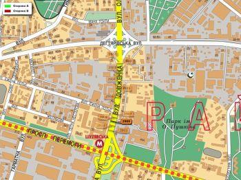 Карта - Троллы на О.Довженко вул.(конструкция №2909)