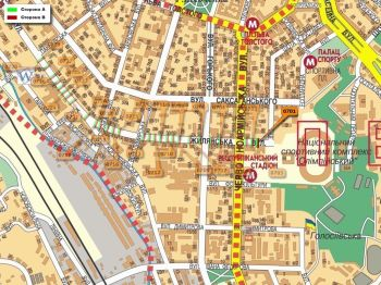 Карта - Троллы на Жилянська вул.(конструкция №701)
