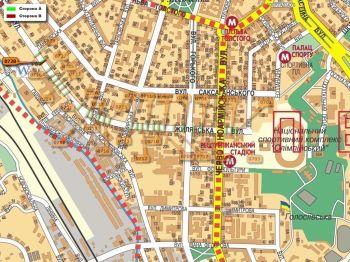 Карта - Троллы на Жилянська вул.(конструкция №728)