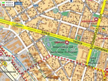 Карта - Троллы на Жилянська вул.(конструкция №730)