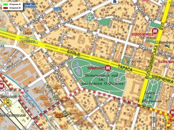Карта - Троллы на Жилянська вул.(конструкция №734)