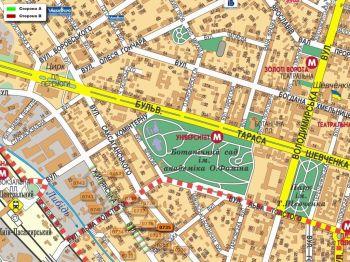 Карта - Троллы на Жилянська вул.(конструкция №735)