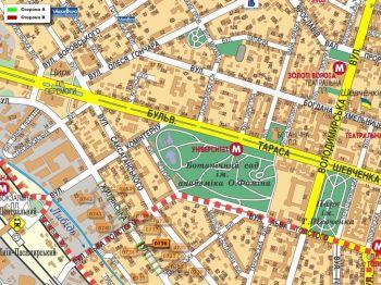 Карта - Троллы на Жилянська вул.(конструкция №736)
