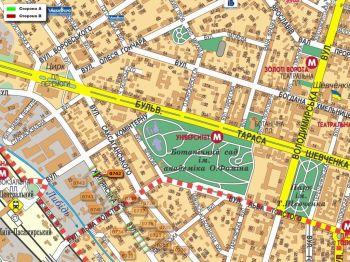 Карта - Троллы на Жилянська вул.(конструкция №742)