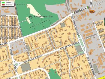 Карта - Троллы на Жмеринська вул.(конструкция №8001)