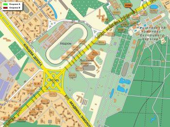 Карта - Троллы на Ак.Глушкова пр-т(конструкция №6104)
