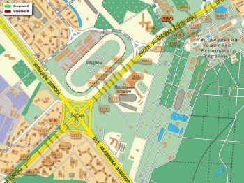 Карта - Троллы на Ак.Глушкова пр-т(конструкция №6107)