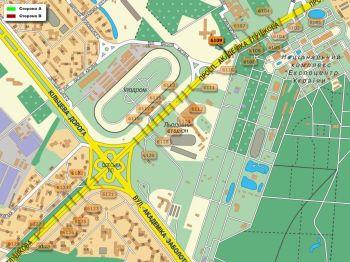Карта - Троллы на Ак.Глушкова пр-т(конструкция №6109)