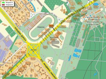 Карта - Троллы на Ак.Глушкова пр-т(конструкция №6113)