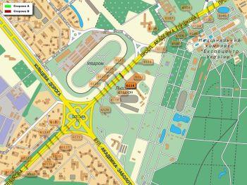 Карта - Троллы на Ак.Глушкова пр-т(конструкция №6114)