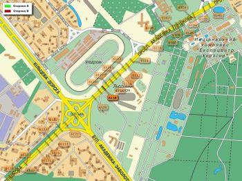 Карта - Троллы на Ак.Глушкова пр-т(конструкция №6118)
