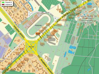 Карта - Троллы на Ак.Глушкова пр-т(конструкция №6119)