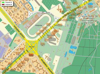 Карта - Троллы на Ак.Глушкова пр-т(конструкция №6121)