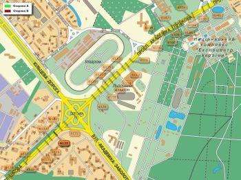 Карта - Троллы на Ак.Глушкова пр-т(конструкция №6123)