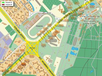 Карта - Троллы на Ак.Глушкова пр-т(конструкция №6125)