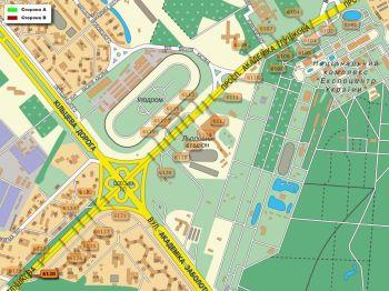 Карта - Троллы на Ак.Глушкова пр-т(конструкция №6128)
