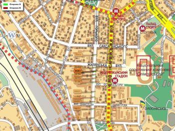 Карта - Троллы на Горького вул.(конструкция №603)