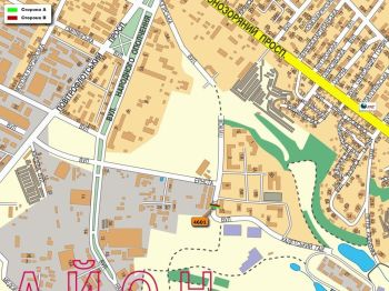 Карта - Троллы на Кадетський Гай вул.(конструкция №4601)