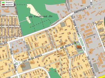 Карта - Троллы на Якуба Коласа вул.(конструкция №7801)