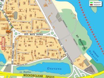 Карта - Троллы на Лайоша Гавро вул.(конструкция №4701)