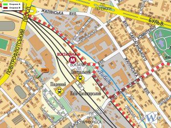 Карта - Троллы на Лукашевича вул.(конструкция №2701)