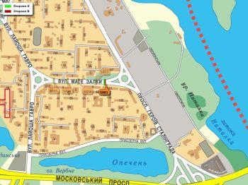 Карта - Троллы на Мате Залки вул.(конструкция №5001)