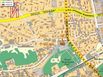 Карта - Троллы на Мостицька вул.(конструкция №8101)
