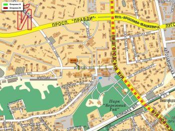 Карта - Троллы на Мостицька вул.(конструкция №8105)