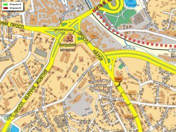 Карта - Троллы на Науки пр-т(конструкция №7203)