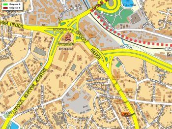 Карта - Троллы на Науки пр-т(конструкция №7206)