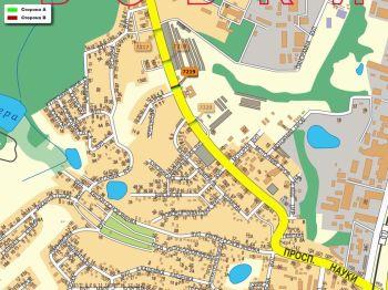 Карта - Троллы на Науки пр-т(конструкция №7219)