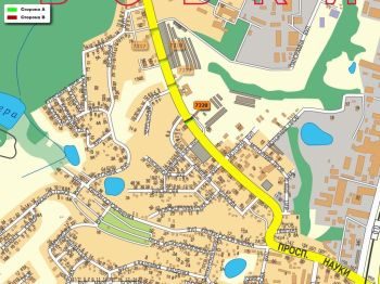 Карта - Троллы на Науки пр-т(конструкция №7220)