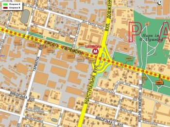 Карта - Троллы на Перемоги пр-т(конструкция №3001)