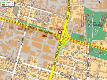 Карта - Троллы на Перемоги пр-т(конструкция №3007)